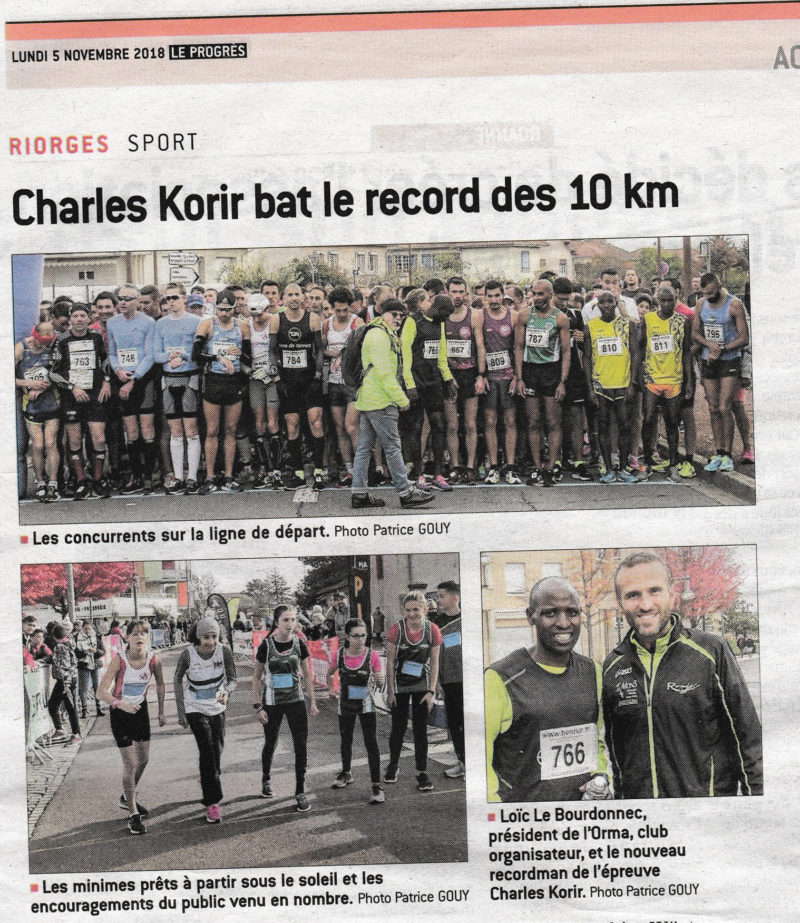 On parle de nous dans la presse ! 10 KM de Riorges 2018