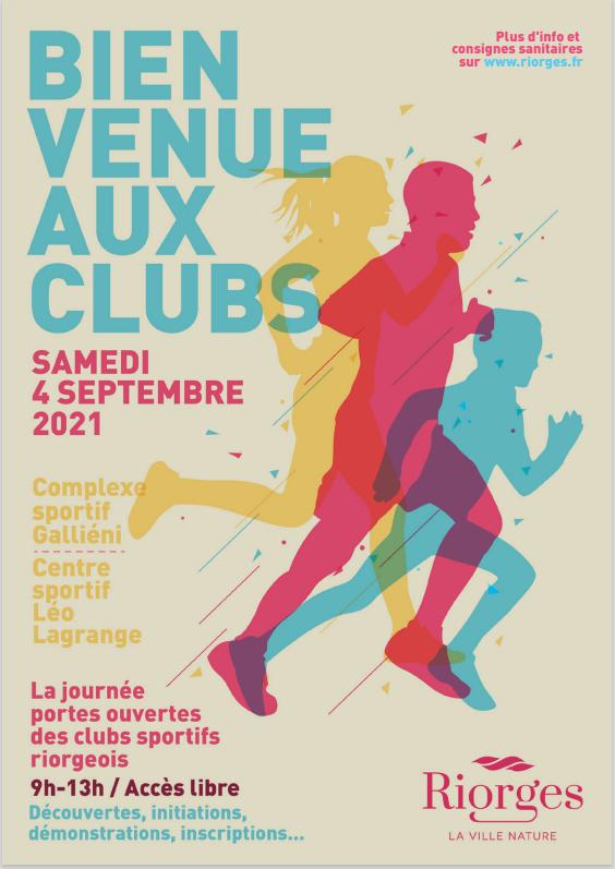 Bienvenue aux Clubs de Riorges 04/09/2021